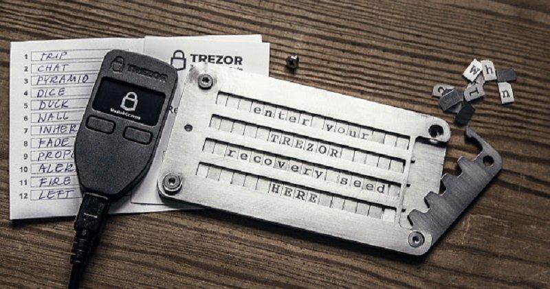 TREZOR Cryptosteel
