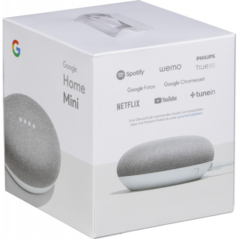 google home mini v krabici